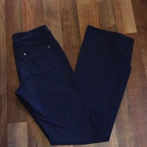 Athleta dark blue stretchy pants size ST